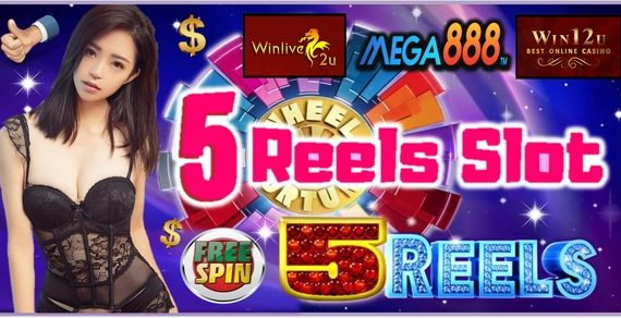 5 Reel Slots At Mega888 Casino